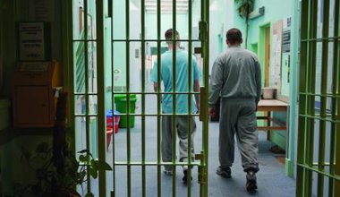 Prisoners on H wing at YOI Aylesbury (Andy Aitchison)