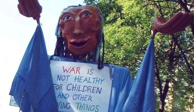 WAR IS NOT HEALTHY FOR CHILDREN AND OTHER LIVING THINGS