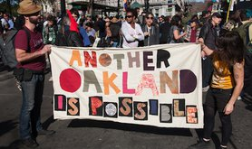 During an Occupy Oakland march in January 2012. Demotix/Steve Rhodes. All rights reserved.