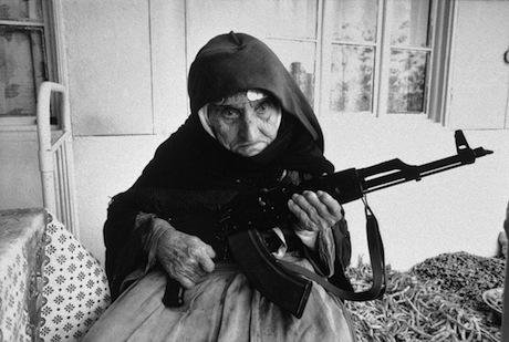 106 yr old Armenian woman guards her house in a village near Goris. Armineh Johannes:Flickr. Some rights reserved.jpg