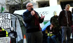Costas Douzinas speaks at Occupy London. Demotix/Haydn Wheeler. Some rights reserved.