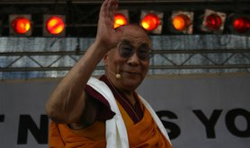 The fourteenth Dalai Lama appears at a pro-Tibetan rally in Vienna in May. Demotix/Saransh Sehgal. All rights reserved.