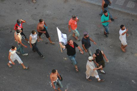 Salafist youth clash with police in Sousse, March, 2013.