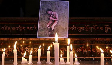 Remembering a self-immolating protester in Dharamsala, India. Demotix/Katie Lin. All rights reserved.