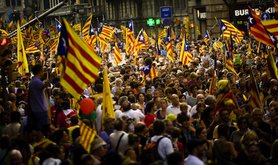 Pro-independence protesters in Barcelona on 11 September 2012. Demotix/Mario Roldan. All rights reserved.