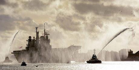 HMS Illustrious Returning to Portsmouth, 2014. Flickr/Defence Images. Some rights reserved.