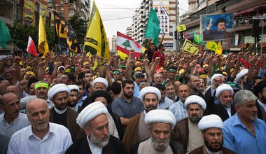 A Hezbollah anti-Innocence of Muslims protest in Beirut. Demotix/Ricardo Nuno. All rights reserved.