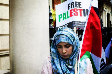 Gaza march and rally in London, August 2014.