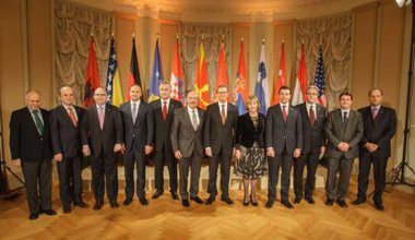 German Foreign Minister Guido Westerwelle receives Balkan politicians in Berlin