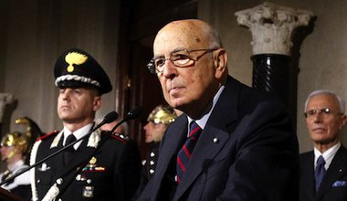 Newly re-elected Italian president Giorgio Napolitano. Demotix/eidon photographers. All rights reserved.