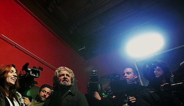 M5S leader Beppe Grillo during a press conference in Rome. Demotix/Eidon Photographers. All rights reserved.