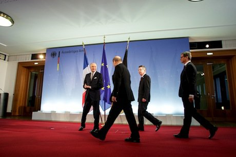 German foreign and defence ministers meet French counterparts on Mali. Demotix/Theo Schneider. All rights reserved.