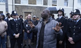Director Steve McQueen on the set of BBC mini-series Small Axe