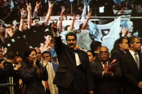 Newly elected President Maduro in 2013.