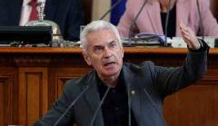 Volen Siderov, leader of the Bulgarian ultra-right party ATAKA, speaks in the Parliament.