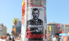 Prime Minister Erdogan described on this poster as a dictator