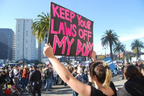 Pro-choice protest in the US.