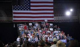 Donald Trump with supporters. Flickr/Gage Skidmore. Some rights reserved.