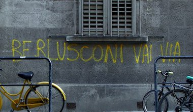 """""""Berlusconi go away"""". Flickr/Nela Lazarevic. Some rights reserved."""