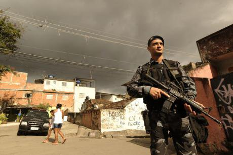 Police install Pacifying Unit in Rio, October 2013.