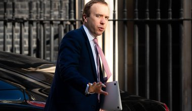 Secretary of State for Health and Social Care Matt Hancock arrives at Downing Street, London, 15 April 2020