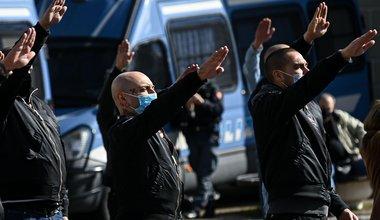 Far right supporters commemorate the death of Benito Mussolini .jpg