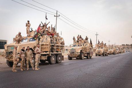 The Iraqi Army 16th Division on the way for the Mosul offensive in October 2016. Flickr/Quentin Bruno. Some rights reserved.