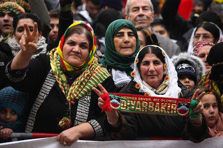 Thousands rally in Berlin in 2013 against PKK ban. Demotix/Thorsten Strasas. All rights reserved.