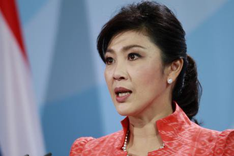 Prime Minister Yingluck Shinawatra at the Federal Chancellery in Berlin. Simone Kuhlmey/Demotix. All rights reserved.
