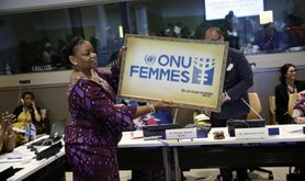 At a high-level women leaders' forum co-hosted by Germany, the African Union and UN Women, in June 2017.