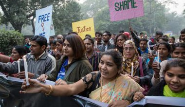 Indian protest mark first anniversary of Delhi gang rape.