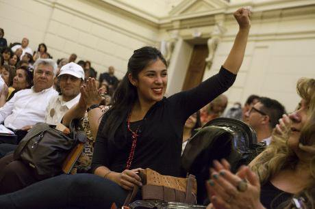 Chileans celebrate the 55th Anniversary of the Cuban Revolution