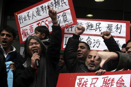 Refugee protest, Hong Kong, February 2014. Demotix/Geoffrey Cheng. All rights reserved.