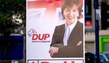 DUP Election poster © Copyright Rossographer and licensed for reuse under this Creative Commons Licence.