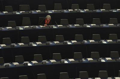 Empty seats at the European Parliament, Strasbourg. Demotix/Serge Mouraret. All rights reserved.