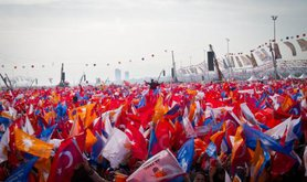 1.5 million people gather for a meeting of the AKP in Istanbul. Demotix/Aurore Belot. Some rights reserved.