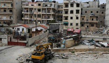 The destruction of Aleppo, locally called 'ghost city', 2014.