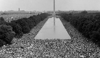 Hundreds of thousands descended on Washington, D.C.'s, Lincoln Memorial Aug. 28, 1963