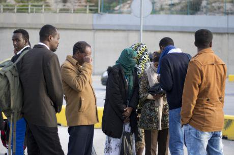 Migrant survivors of the Samos shipwreck arrive in Athens.