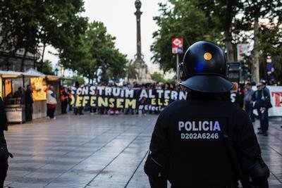 Barcelona protests against the Can Vies evictions.