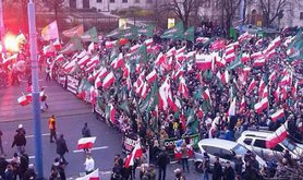 Polish youth on the far-right Independence Day march, November 2015.