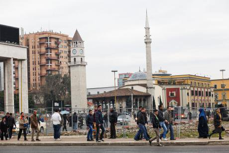 The main square in Tirana, Albania. Demotix/Vedat Xhymshiti. All rights reserved.