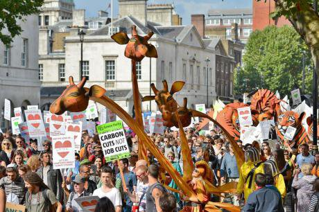 People's March for Climate Change, London.