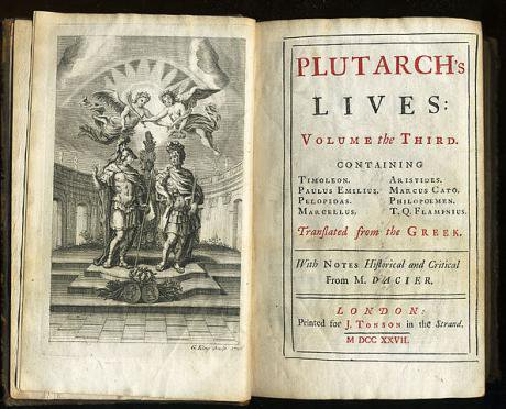 Third Volume of a 1727 edition of Plutarch's Lives printed by Jacob Tonson.