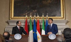 Egyptian president visits Italy. Paolo Gargini/Demotix. All rights reserved.