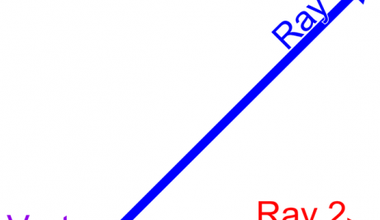 Two rays and one vertex.