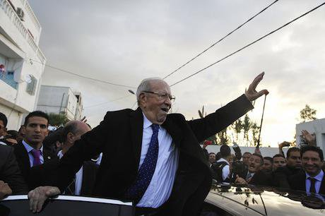 Beji Caid Essebsi, new president of Tunisia. Demotix/Chedly Ben Ibrahim. All rights reserved.
