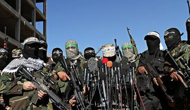Armed faction protest in Gaza Strip,February, 2015.