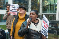 Solidarity protest for women refugees