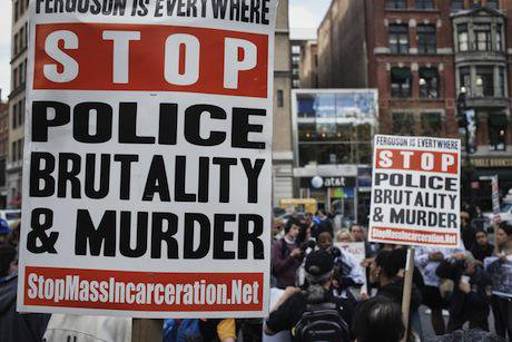 Protests against police brutality, New York. Demotix/Georgio Savona. All rights reserved.
